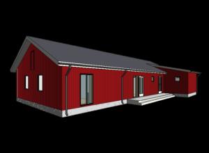 Rootsipunane maja Mändjalas