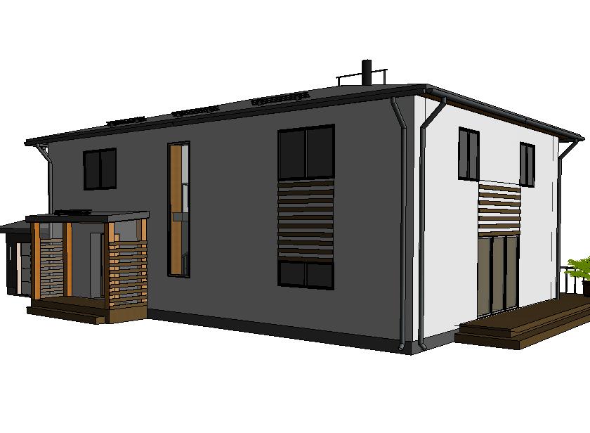 Kahekorruseline elamu Ranna ja Mereääre Mü detailplaneeringu alas