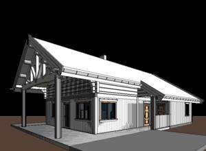 3D mudel majast