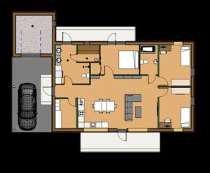 Ühe korruselise elamu projekt Mändjalas