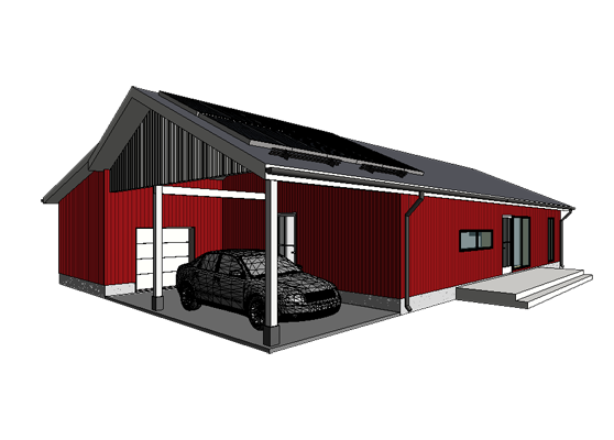 Rootsipunases toonis maja Mändjalas