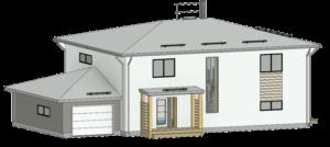 Ehitusprojekti 3D mudeli joonis