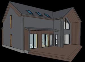 Merikotka DP alas elamu 3D mudel