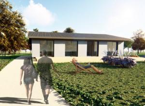 Salme jõe kaldale ehitusprojekt elamule
