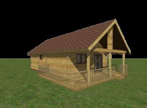 Palkmaja 3D mudel eelprojektile