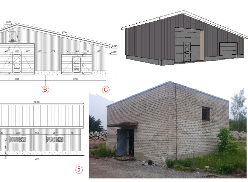 Tammuna külas Kordonis abihoone projekteerimine 2019..2020