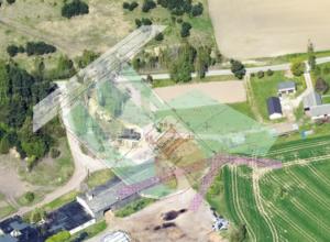 Asukohaplaan ja aerofoto Maaameti fotolaost 2020