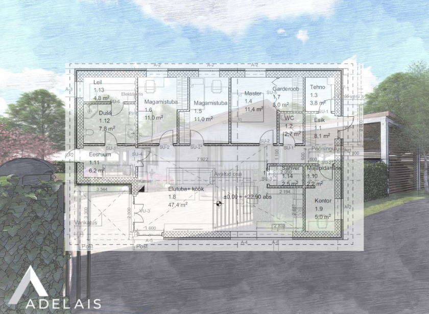 Elamu eelprojekt ja ehitusluba